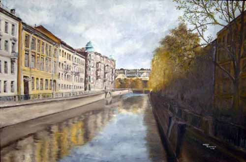 Leningrad canal, by George McManus