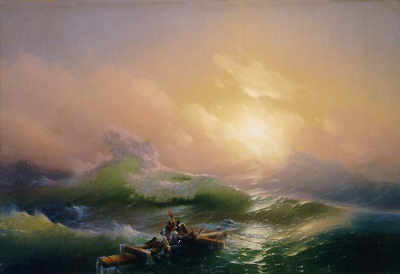Ivan Aivazovsky's The Ninth Wave